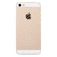 Miếng Dán Mặt Sau Vân Carbon Cho iPhone 5/5s/5SE (Trong Suốt)