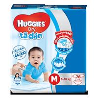 Tã dán Huggies Dry M76