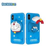 Ốp Điện Thoại HÌnh Doraemon 5.5 inch cho iPhone X Rock- Xanh