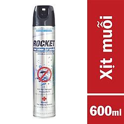 Bình Xịt Muỗi Rocket Không Mùi (600ml) – Xám