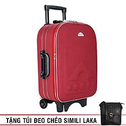 Vali Kéo Du Lịch Bi&Ti Màu Đỏ - Size 20 (Quà Tặng Túi Đeo Chéo LAKA - Simili)