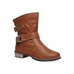 Giày Boot Nữ Phối Khóa Naza A60001 - Nâu