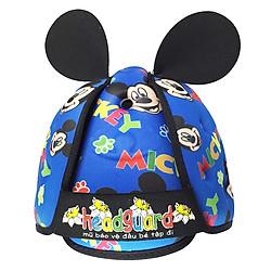Mũ Bảo Vệ Đầu Cho Bé Headguard Mickey Xanh