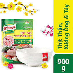 Hạt Nêm Knorr Từ Thịt Thăn, Xương Ống Và Tủy Bổ Sung Vitamin A (900g) - 67123046 - Tặng 1 tô sứ 6 inch