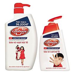 Bộ Sản Phẩm Lifebuoy Bảo vệ toàn diện: Sữa Tắm (850g) + Nước Rửa Tay (500g) - 21126129