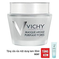 Mặt Nạ Bùn Khoáng Vichy Pore Purifying Clay Mask (75ml) - Tặng Sữa Rửa Mặt Dạng Kem Purete Thermal (50ml)