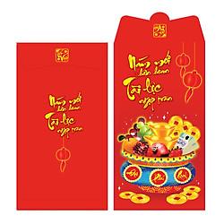 Bao Lì Xì Phan Thị Chữ Nhật Lớn - Hủ Vàng 3 - M119 (Lốc 6)