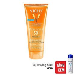 Kem Chống Nắng Dành Cho Cơ Thể Vichy Ideal Soleil Milk Gel SPF50 200ml - Tặng Xịt khoáng Dưỡng Da 50ml - 100813853