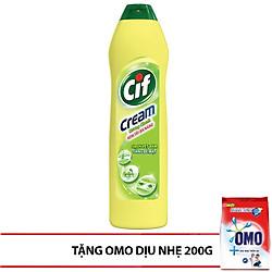 Kem Tẩy Đa Năng Cif  Hương Chanh Dạng Chai 500ml