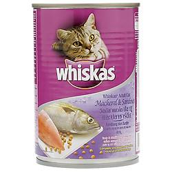 Thức Ăn Cho Mèo Whiskas Vị Cá Thu Và Cá Mòi Lon 400g