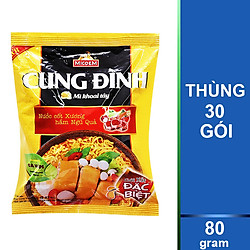 Thùng 30 Gói Mì Khoai Tây Cung Đình Hương Vị Gà Hầm