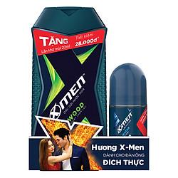 Dầu Gội Nước Hoa X-Men Wood (180g) - Tặng Lăn Khử Mùi Xmen (20ml)