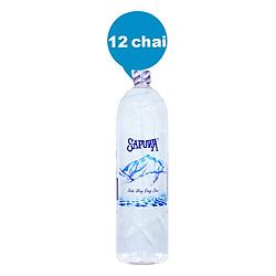 Thùng 12 Chai Nước Uống Tinh Khiết Sapuwa (1500ml / Chai)