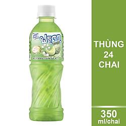 Thùng 24 Chai Nước Trái Cây Vị Dưa Lưới Với Thạch Dừa Deedo Fruitku (350ml / Chai)