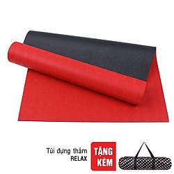 Thảm Tập Yoga 2 Lớp Có Túi Đeo Sportslink TPE RELAX-6MM-2L-ĐỎ - Đỏ (Dày 6mm)