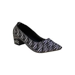 Giày Gót Vuông Họa Tiết Sọc ShopNCC 33TR