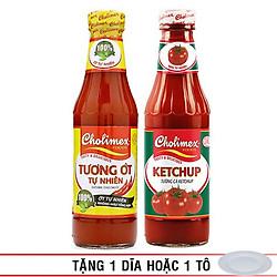 Combo Tương Ớt Cholimex Tự Nhiên + Tương Cà Cholimex Ketchup 330g