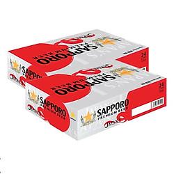 Combo 2 Thùng 24 Lon Bia Sapporo Premium 330ml FG