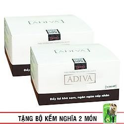 Combo 2 Hộp Thực Phẩm Chức Năng Tinh Chất Làm Đẹp Collagen Adiva 30ml/Lọ - 14 Lọ/ Hộp
