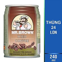 Thùng 24 Lon Cà Phê Sữa Cappucino Mr.Brown Cappucino (240ml/Lon)