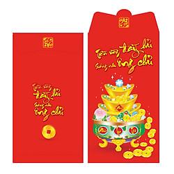 Bao Lì Xì Phan Thị Chữ Nhật Lớn - Hủ Vàng 5 - M121 (Lốc 6)