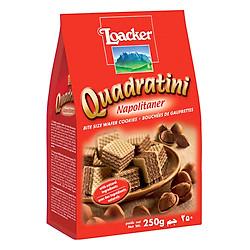 Bánh Xốp Quadratini Kem Hạt Dẻ Loacker (250g)