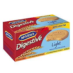 Bánh Quy Lúa Mì Nguyên Cám Ít Béo Mcvitie's Digestive Light (250g)