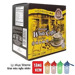 Cà Phê Trắng Malaysia Coffee Tree (Hộp 8 Gói x 40g) - Tặng Ly Nhựa Woome Cao Cấp