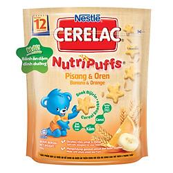 Bánh Ăn Dặm Nestlé CERELAC Nutripuffs Vị Chuối Cam - Gói 50g