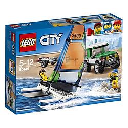 Bộ Lắp Ghép Xe Địa Hình 4x4 Và Thuyền Buồm Hai Thân Lego 60149 (198 Miếng)