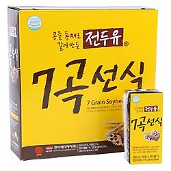Sữa đậu 7 Vị Hanmi 7 Grain Soybean Milk (Thùng 16 Hộp x 200ml)