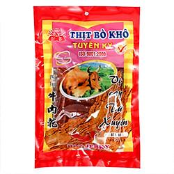 Thịt Bò Khô Tuyền Ký Vị Cay Tứ Xuyên Gói 60g