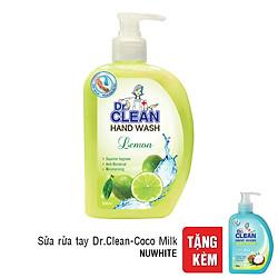 Sữa Rửa Tay Dr. Clean - Chanh (500ml) - Tặng Sữa Rửa Tay Dr. Clean - Coco Milk (200g)