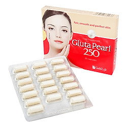 Thực Phẩm Chức Năng Viên Nang Uống Trắng Da Gold Life Gluta Pearl 250 (Vỉ 20 Viên)