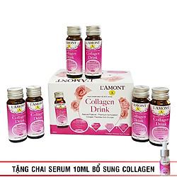 Thực Phẩm Chức Năng Nước Uống Bổ Sung Collagen L'AMONT Collagen Drink Hộp 6 Lọ (30ml/Lọ)