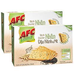 Combo 2 hộp Bánh Kinh Đô AFC Dinh Dưỡng Nhân Đậu Nành Mè Hộp 227g