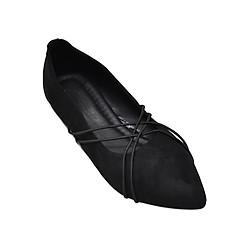 Giày Búp Bê Phối Dây Chéo Me Girl 92276 - Đen