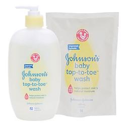 Combo Sữa Tắm Gội Toàn Thân Johnson's Baby Top-To-Toe (500ml) +  Túi Refill (400ml)
