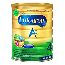 Sữa Enfagrow A+4 360° Brain Plus Với PDX & GOS (900g)