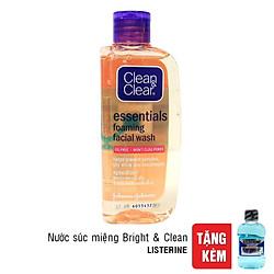 Sữa Rửa Mặt Tạo Bọt Chống Nhờn Clean & Clear (100ml) - Tặng Listerine Bright & Clean 80ml