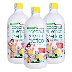 Combo 3 Chai Thức Uống Giải Độc Tố Naturopathica Fatblaster Coconut Và Lemon Detox (750ml / Chai)