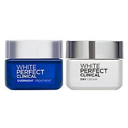 Bộ Đôi Kem Dưỡng Trắng Mịn & Bảo Vệ Da Toàn Diện Ngày Và Đêm White Perfect Clinical L'oreal
