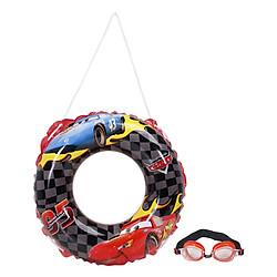 Phao Tròn (50cm) Và Kính Bơi Cao Cấp Mesuca Cars DEY02037-F - Đỏ