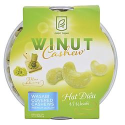 Hạt Điều Phúc Thịnh Vị Wasabi Winut Hộp Nhựa (500g)