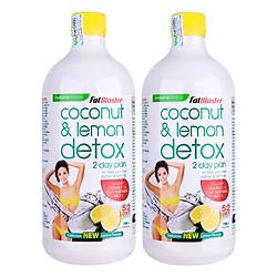 Combo 2 Chai Thức Uống Giải Độc Tố Naturopathica Fatblaster Coconut Và Lemon Detox (750ml / Chai)
