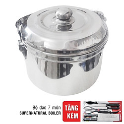 Nồi Ủ Supernatural Boiler La Antar G00083 - Màu Bạc -  5.6L (Tặng Bộ Dao 7 Món)
