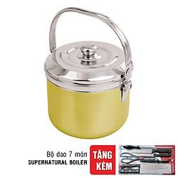 Nồi Ủ Supernatural Boiler Sinew G000080 - 5.6L (Tặng Bộ Dao 7 Món)