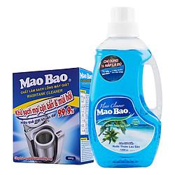 Combo 1 Chai Nước Lau Sàn Làn Gió Biển Mao Bao 1.2L + 1 Hộp Chất Làm Sạch Lồng Giặt Mao Bao 300g