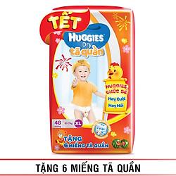 Tã Quần Huggies Dry Gói Đại XL48 (48 Miếng) - Tết 2017