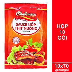 Hộp 10 Gói Sauce Ướp Thịt Nướng Cholimex (70g/Gói)